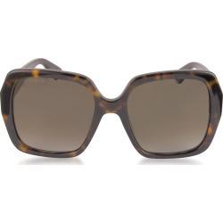 Gucci Designer Sunglasses, GG0096S 006 Havana Acetate Square Women's Polarized Sunglasses