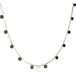 Rebecca Designer Necklaces, Lucciole Sterling Silver Necklace w/Black Crystals found on Bargain Bro UK from FORZIERI.COM (UK)