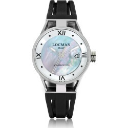 Locman Designer Women's Watches, Montecristo Stainless Steel and Titanium Mother of Pearl w/Silicone Strap Women's Watch found on Bargain Bro UK from FORZIERI.COM (UK)