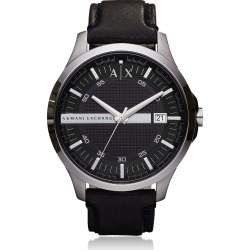 Armani Exchange Designer Men's Watches, Hampton Black Leather Men's Watch found on Bargain Bro Philippines from Forzieri for $165.00