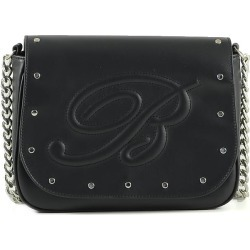 Blumarine Designer Handbags, Claire Black Leather Shoulder Bag found on MODAPINS from Forzieri for USD $274.00