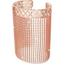 Rebecca Designer Bracelets, Melrose Rose Gold Over Bronze Mesh Bracelet