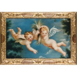 Bianchi Arte Designer Paintings, Oil on Canvas Cherubs Painting found on Bargain Bro Philippines from Forzieri for $3100.00