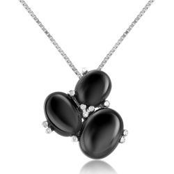 Del Gatto Designer Necklaces, Three-Stone Diamond 18K Gold Pendant Necklace found on Bargain Bro UK from FORZIERI.COM (UK)