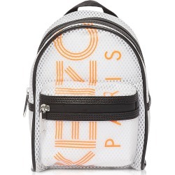 Kenzo Designer Handbags, White PVC & Mesh Sport Logo Mini Backpack found on Bargain Bro UK from FORZIERI.COM (UK)