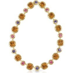 Forzieri Necklaces, Purple, Pink and Orange Crystals Necklace