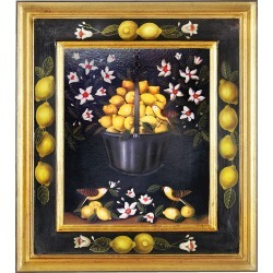 Bianchi Arte Designer Paintings, Oil on Canvas Lemons Painting found on Bargain Bro India from Forzieri for $2700.00