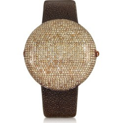 Christian Koban Designer Men's Watches, Clou Brown Diamond Dinner Watch found on Bargain Bro Philippines from Forzieri for $13455.00
