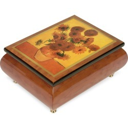 "Forzieri Designer Jewelry Boxes, It's a Small World - ""Sunflowers"" Musical Jewelry Box"