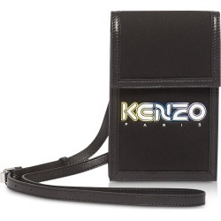 Kenzo Designer Handbags, Black Kombo Phone Holder on Strap found on Bargain Bro UK from FORZIERI.COM (UK)