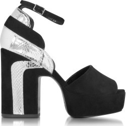 Pierre Hardy Designer Shoes, Roxy Black Suede and Silver Ayers Platform Sandal found on Bargain Bro Philippines from Forzieri for $331.20