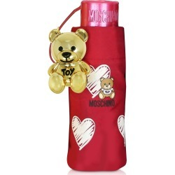 Moschino Designer Umbrellas, Hearts and Bears Supermini Umbrella found on Bargain Bro UK from FORZIERI.COM (UK)