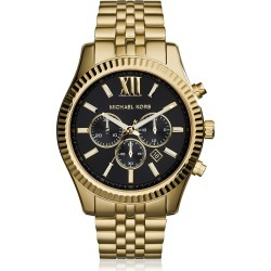Michael Kors Designer Men's Watches, Lexington Gold Tone Chronograph Men's Watch found on Bargain Bro UK from FORZIERI.COM (UK)
