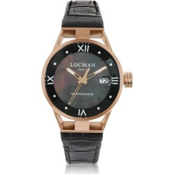 Locman Designer Women's Watches, Montecristo Stainless Steel and Titanium Rose Gold PVD Women's Watch w/Croco Embossed Leather Strap found on Bargain Bro UK from FORZIERI.COM (UK)