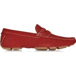 A.Testoni Shoes, Garofano Techno Suede Moccasin Shoe