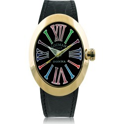 Locman Designer Women's Watches, Change Gold Plated Stainless Steel Oval Case Women's Watch w/3 Leather Straps found on Bargain Bro UK from FORZIERI.COM (UK)
