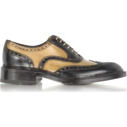 Forzieri Designer Shoes, Italian Handcrafted Two-tone Wingtip Oxford Shoes found on Bargain Bro Philippines from Forzieri for $660.00