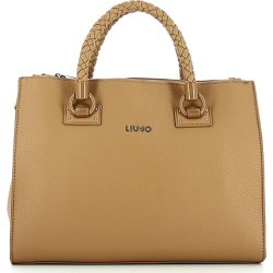Liu Jo Designer Handbags, Light Brown Squared Tote Bag found on MODAPINS from Forzieri for USD $205.00