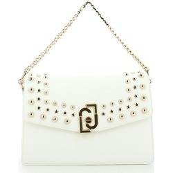 Liu Jo Designer Handbags, White Studded Chain Shoulder Bag found on MODAPINS from Forzieri for USD $205.00