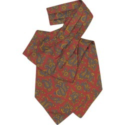 Forzieri Designer Ascot ties, Large Paisley Print Silk Ascot found on Bargain Bro UK from FORZIERI.COM (UK)