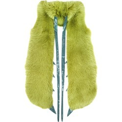 Fearfur Designer Outerwear & Furs, Praying Mantis Green Fox Fur Stole found on Bargain Bro UK from FORZIERI.COM (UK)