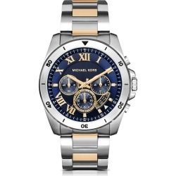 Michael Kors Designer Men's Watches, Brecken Two-tone Stainless Steel Men's Chronograph Watch