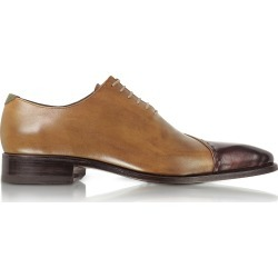 Forzieri Designer Shoes, Brown Italian Handcrafted Leather Cap Toe Dress Shoes found on Bargain Bro Philippines from Forzieri for $578.00