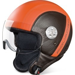 Piquadro Designer Small Leather Goods, Open Face Two-tone Leather Helmet w/Visor found on Bargain Bro Philippines from Forzieri for $548.00