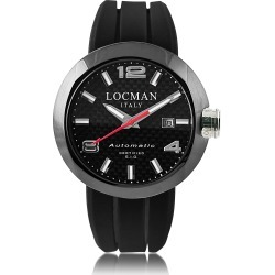 Locman Designer Men's Watches, One Automatico Black PVD Stainless Steel Men's Watch w/Leather and Silicone Band Set found on Bargain Bro UK from FORZIERI.COM (UK)