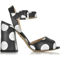 Charlotte Olympia Designer Shoes, Emma Black Polka Dot Print Leather Sandal found on Bargain Bro Philippines from Forzieri for $335.60