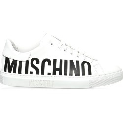 Moschino Designer Shoes, SIgnature White Leather Men's Sneakers found on Bargain Bro Philippines from Forzieri for $565.00