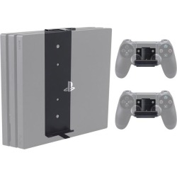 PlayStation 4 Pro Console and 2 Controller Pro Wall Mount Bundle