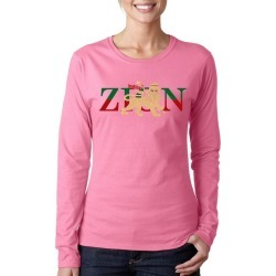 Zion One Love Lion Word Art Ladies Long Sleeve T-Shirt LA Pop Art GameStop found on Bargain Bro India from Game Stop US for $19.99
