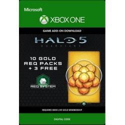Digital Halo 5: Guardians 10 Gold Req Packs and 3 Free Xbox One Download Now At GameStop.com!