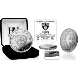 NBA Brooklyn Nets Silver Coin Mint Highland Mint GameStop found on Bargain Bro from Game Stop US for USD $22.79