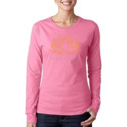 Namaste Lotus Flower Word Art Ladies Long Sleeve T-Shirt LA Pop Art GameStop found on Bargain Bro India from Game Stop US for $19.99