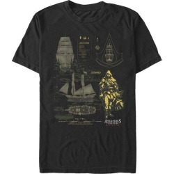Assassin's Creed Black Flag Jackdaw Schematic T-Shirt Fifth Sun GameStop found on Bargain Bro India from Game Stop US for $21.99
