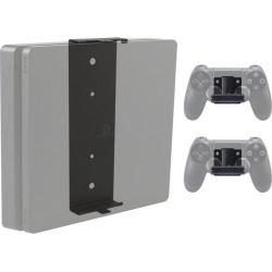 PlayStation 4 Slim Console and 2 Controller Pro Wall Mount Bundle