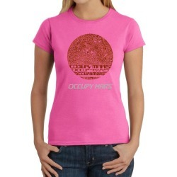 Occupy Mars Word Art Ladies T-Shirt LA Pop Art GameStop found on Bargain Bro India from Game Stop US for $15.99