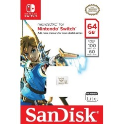 Nintendo Switch 64GB MicroSDXC Card SanDisk Available At GameStop Now!