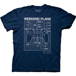 PlayStation Weekend Plans T-Shirt found on Bargain Bro India from Game Stop US for $21.99