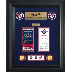 Washington Nationals World Series Champions Gold Coin and Ticket Collection Highland Mint GameStop found on Bargain Bro from Game Stop US for USD $151.99