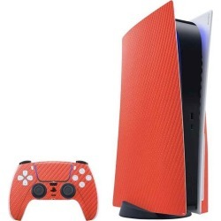 Red Carbon Fiber Skin Bundle for PlayStation 5 PS5 Accessories Sony GameStop found on Bargain Bro Philippines from Game Stop US for $39.99