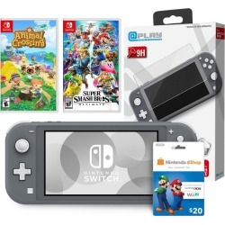 Nintendo Switch Lite Gray System Gamer Bundle - Ships by 4/30 Pre-Order At GameStop Now! found on GamingScroll.com from Game Stop US for $349.99
