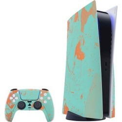 Turquoise and Orange Marble Skin Bundle for PlayStation 5 PS5 Accessories Sony GameStop found on Bargain Bro Philippines from Game Stop US for $39.99