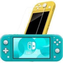 Nintendo Switch Lite Turquoise with Tempered Glass Screen Protector System Bundle
