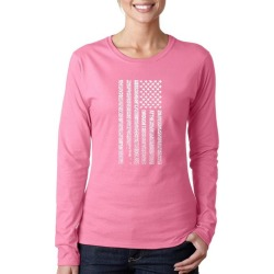 National Anthem Flag Word Art Ladies Long Sleeve T-Shirt LA Pop Art GameStop found on Bargain Bro India from Game Stop US for $19.99