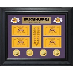 NBA Los Angeles Lakers 17 Time World Champions Deluxe Banner and Gold Coin Mint Collection Highland Mint GameStop found on Bargain Bro from Game Stop US for USD $189.99