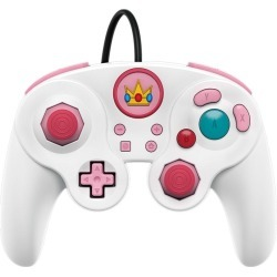 Nintendo Switch Super Smash Bros. Ultimate Princess Peach Edition Wired Fight Pad Pro Controller found on GamingScroll.com from Game Stop US for $24.99