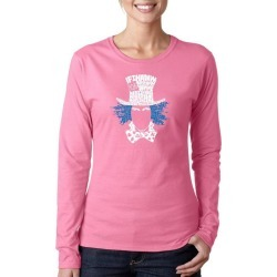 Alice in Wonderland Mad Hatter Word Art Ladies Long Sleeve T-Shirt LA Pop Art GameStop found on Bargain Bro India from Game Stop US for $19.99